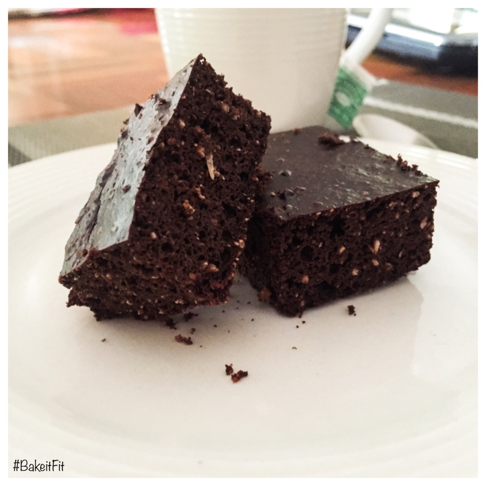 Double chocolate paleo squares  #BakeitFit